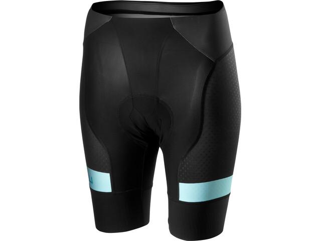 Castelli Free Aero Race 4 Short Femme, black/aruba blue